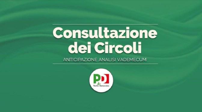 Consultazione dei circoli: le priorità per gli iscritti PD