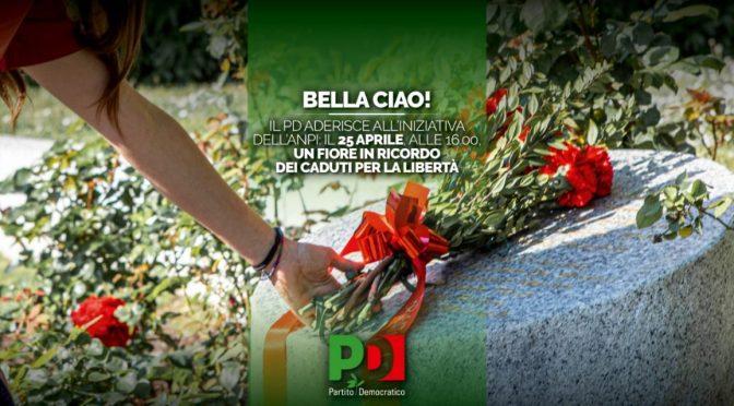 25 Aprile 2021: Festa della Liberazione. Un fiore in ricordo dei caduti per la libertà