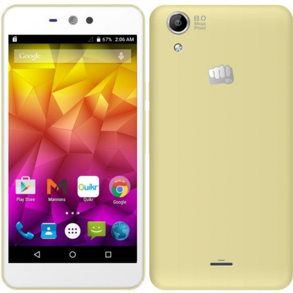 Micromax Canvas Selfie Lens Plus Q345 Smartphone Full Specification