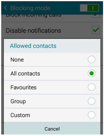 how to block private numbers in android