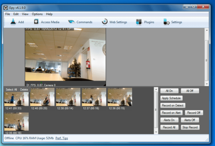 How to turn your PC webcam into a CCTV camera