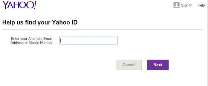 Forgot Yahoo ID