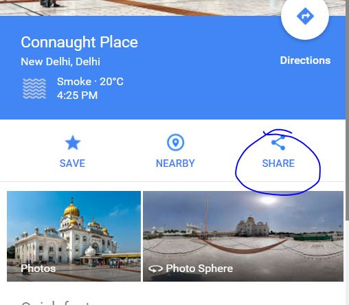 How to Share location of Google maps