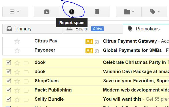 Unsubscribe and Report spam Multiple mails