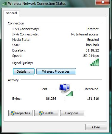 click on wireless properties