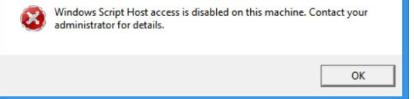 solve Windows Script Host access is disabled on this machine