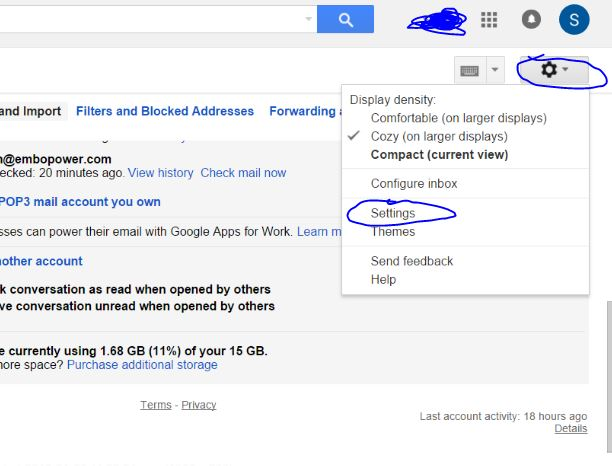 Add additional Space to Gmail Account