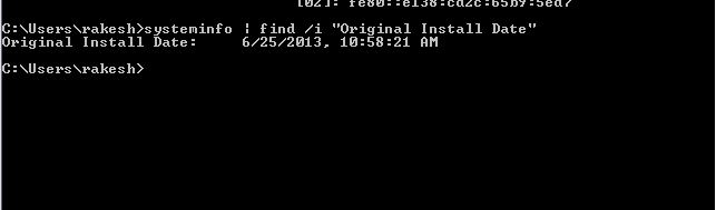 How To Find Windows Installation Date with the Systeminfo Command