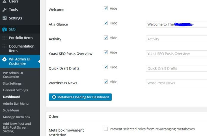 Remove WordPress Dashboard News Feed and Add Your