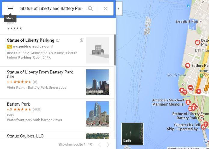 Take a print of Google maps