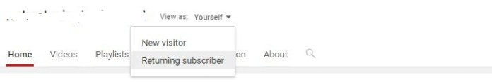 View Your YouTube Channel as Another User