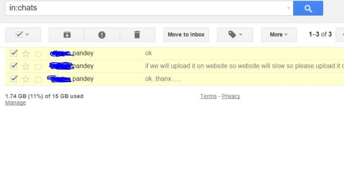 Forward Live chat with Other gmail users and print as well.