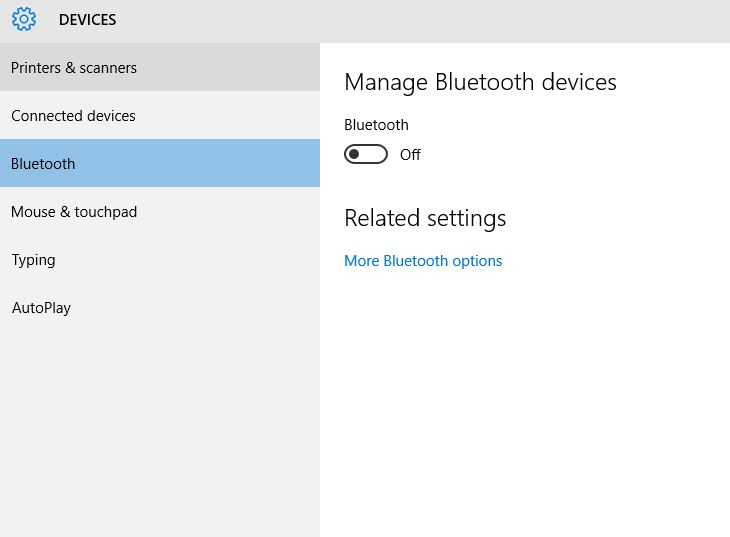 How to manage turn on and off bluetooth in windows 10 laptop how to manage bluetooth on windows 10 device ccuart Gallery