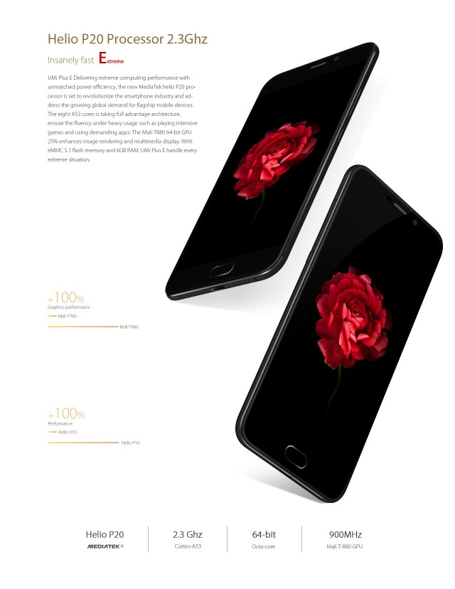 UMI PLUS E Helio P20. First Smartphone Is Now Live
