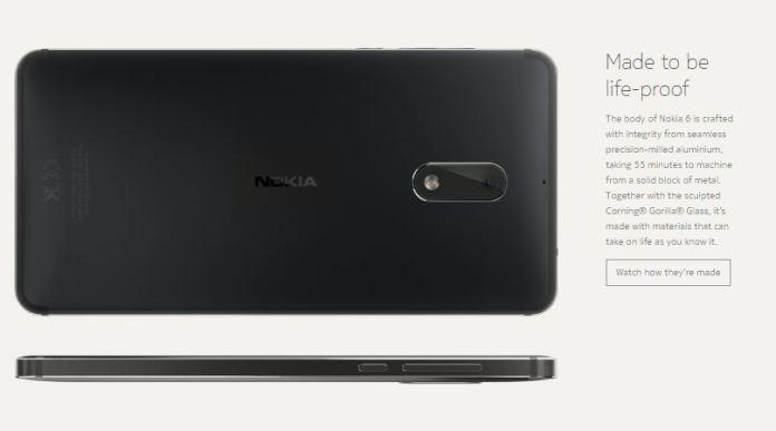 Nokia 6 metal design