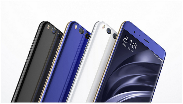 Xiaomi Mi 6 with 3 Color Options