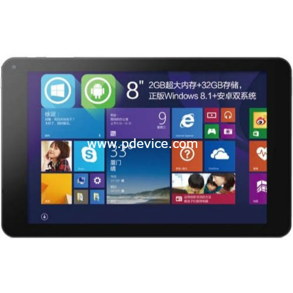 Cube iWork 8 Tablet Full Specification
