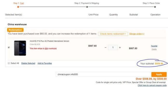 HUAWEI P10 Plus Price Slashed to $508