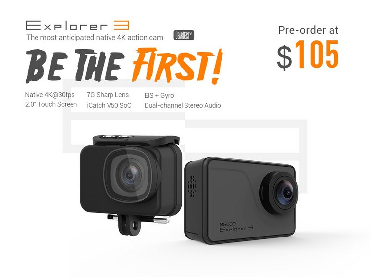 MGCOOL Explorer 3 4K Sports Camera Touch Screen PreSale start