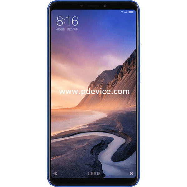 Xiaomi Mi Max 3 Smartphone Full Specification