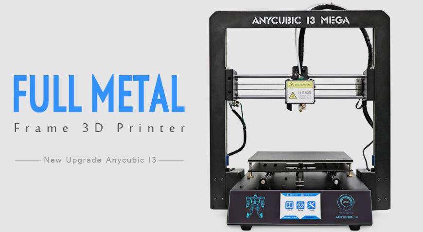 Anycubic I3 MEGA Full Metal Frame FDM 3D Printer Deal - Flash Sale Live