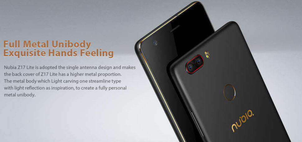 Nubia Z17 Lite with Free Shipping - Coupon Code Here