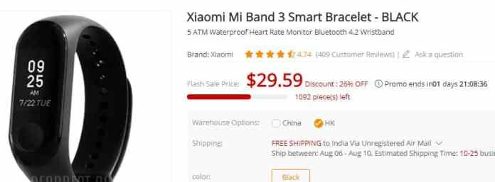 Xiaomi Mi Band 3 Smart Bracelet Free Shipping, Deal Today