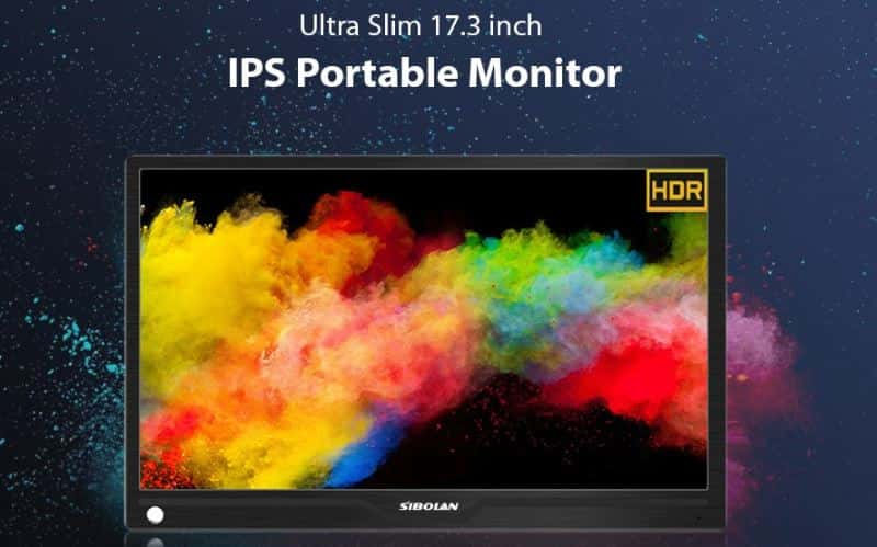 SIBOLAN S4 17.3 inch IPS 1080P HDR Portable Monitor $33 GearBest Promo Code