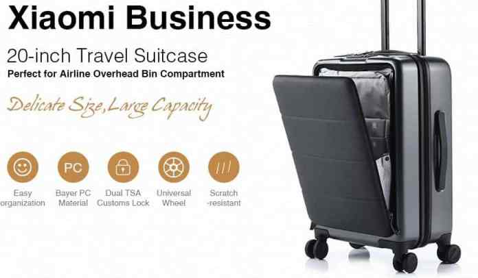 Xiaomi Business 20-inch Travel Boarding Suitcase with $24 GearBest Promo Code