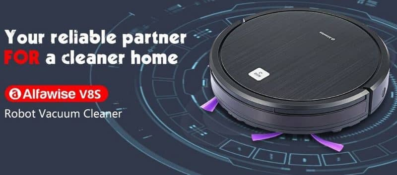 Alfawise V8S Robot Vacuum Cleaner with $13 Promo Code from Gearbest
