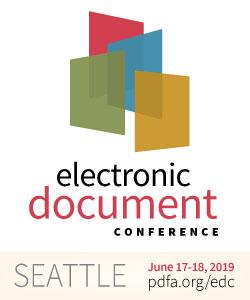 EDC logo, June 17-18 2019, Seattle