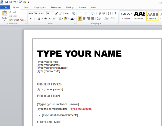 how to write a resume in word resume sample