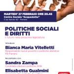 POLITICHE SOCIALI E DIRITTI: il futuro nella prossima legislatura