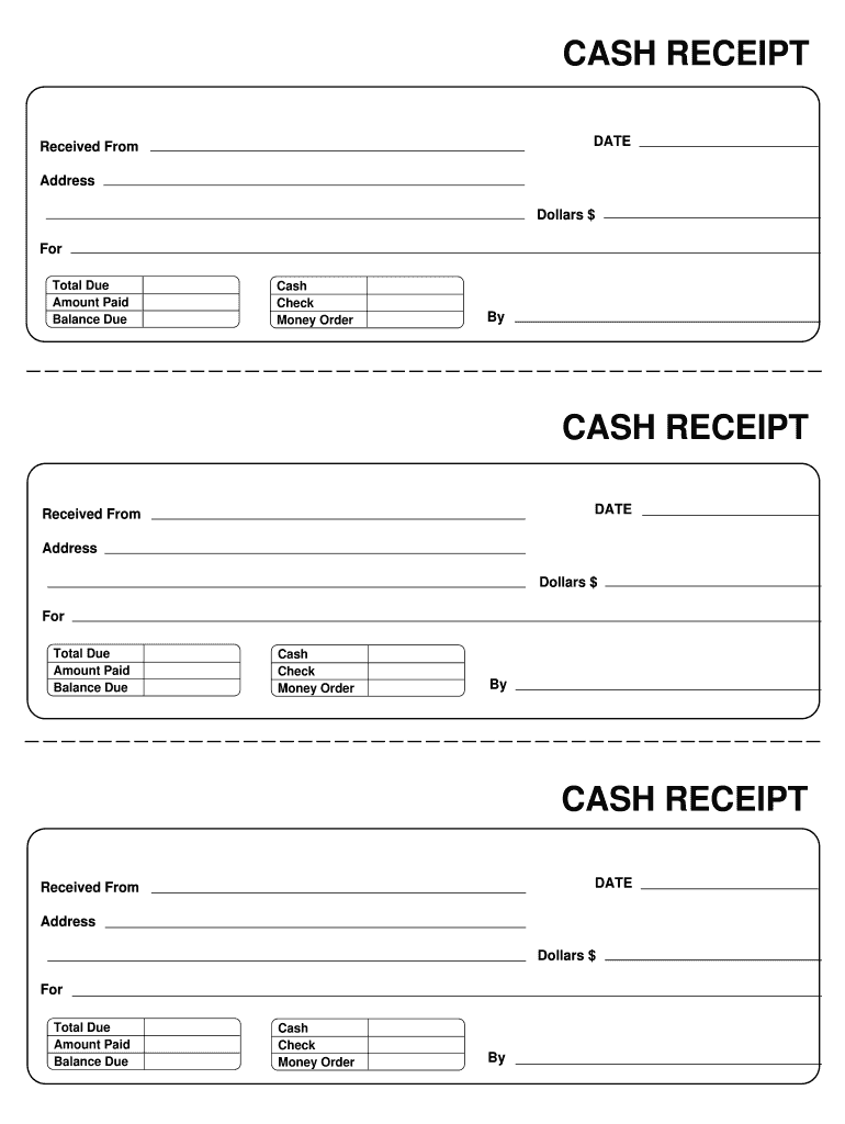 Receipt Template Fill Online Printable Fillable Blank