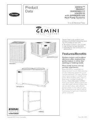 Fillable Online Geminitm 38aq007 38arq008 012 38aqs016