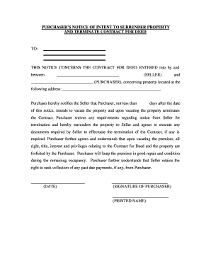 29 Printable Notice Of Intent To Vacate
