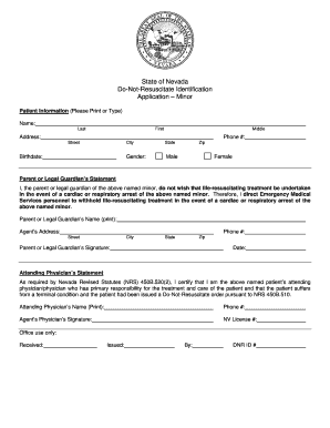 Dnr Form For Nevada Fill Online Printable Fillable