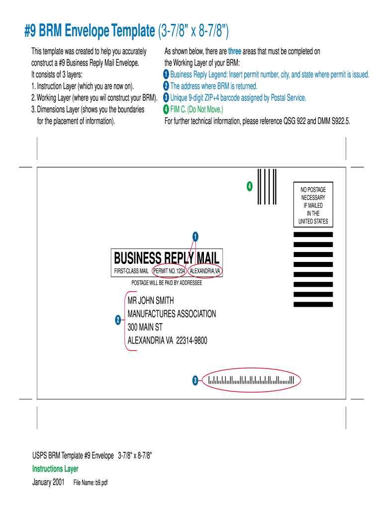 Business Reply Mail Template Fill Online Printable