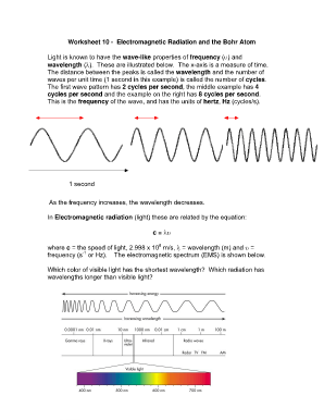 Electromagnetic Radiation Worksheet Answers Fill Online