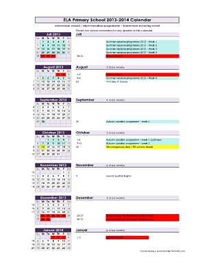 17 Printable Calendar Template Forms Fillable Samples In
