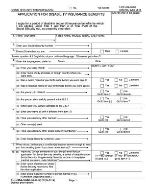 17 Printable Ssi Disability Application Forms And Templates