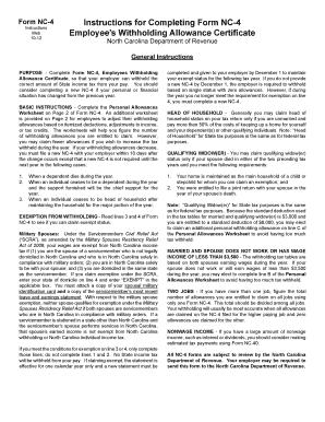 Nc4 Fillable Worksheet
