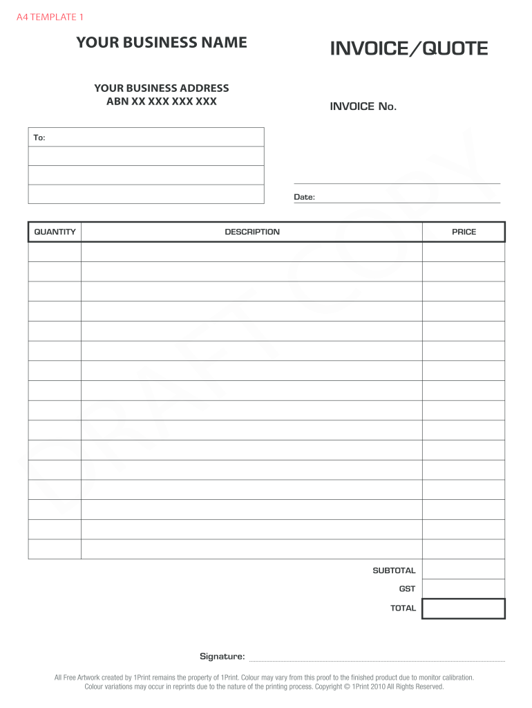 Fill In And Print Invoices Fill Online Printable