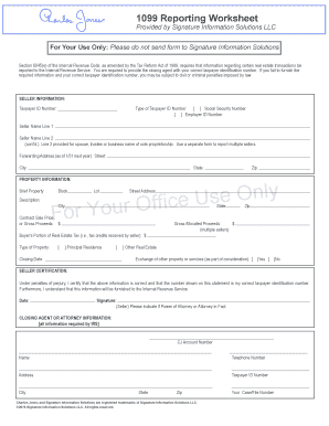 Fillable Online Reporting Worksheet Fax Email Print