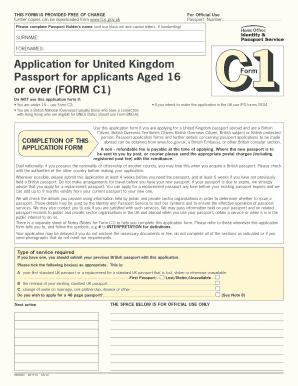 C1 Form For British Passport Fill Online Printable