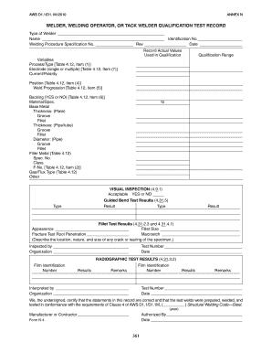 Welder Certificate Format In Word Fill Online Printable
