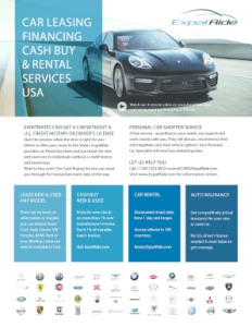 Fillable Online ExpatRide Car Leasing Brochure   Expat Car Leasing     Fill Online