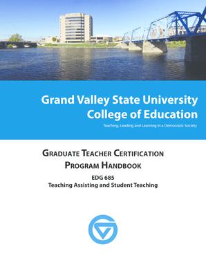 Fillable Online Gvsu Gtc Edg 685 Grand Valley State
