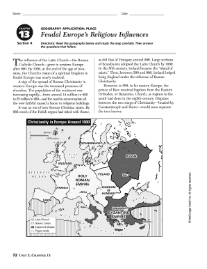 Geography Application Place Feudal Europes Religious