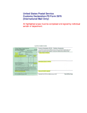 Usps Fillable Only Form 2976 Fill Online Printable